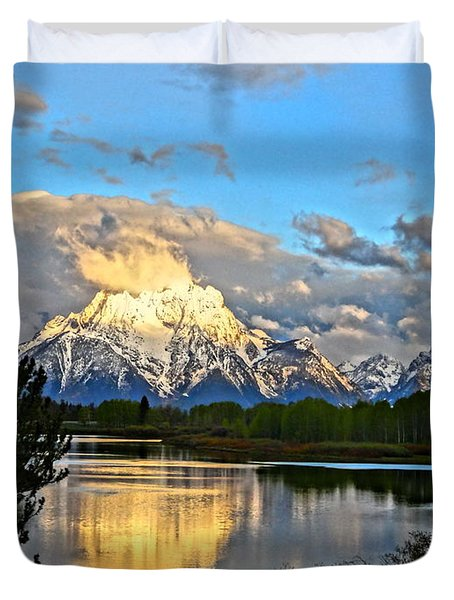 Magnificent Mountain Duvet Cover by Dan Sproul