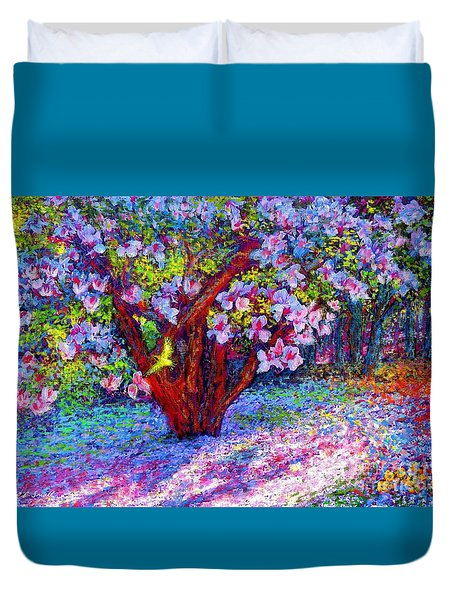 Magnolia Melody Duvet Cover by Jane Small