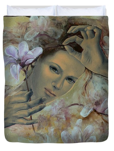 Magnolias Duvet Cover by Dorina  Costras