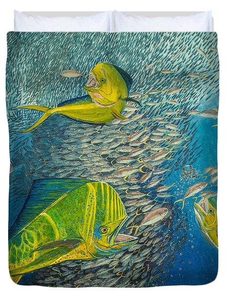Mahi Mahi original oil painting 24x30in Duvet Cover by Manuel Lopez
