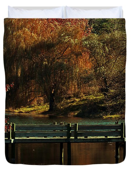 Mahoney State Park Duvet Cover by Elizabeth Winter