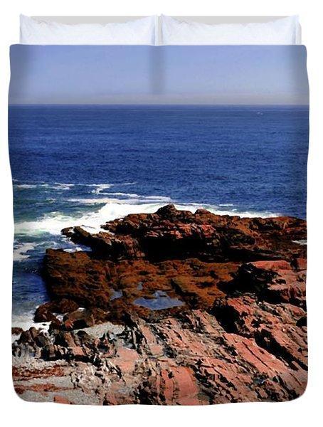 Maine Seascape Duvet Cover by Kathleen Struckle