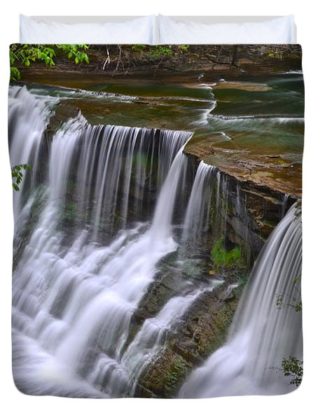 Majestic Falls Duvet Cover by Frozen in Time Fine Art Photography