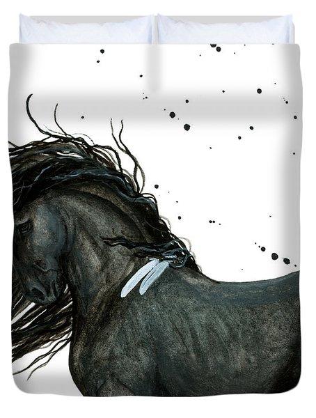 Majestic Friesian 112 Duvet Cover by AmyLyn Bihrle