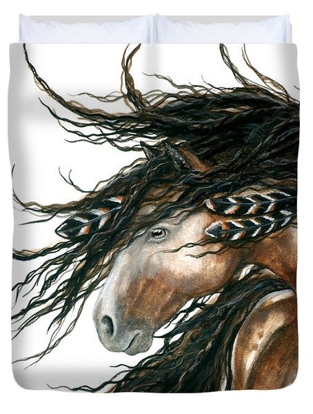 Majestic Pinto Horse 80 Duvet Cover by AmyLyn Bihrle