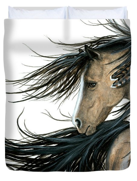 Majestic Horse Series 89 Duvet Cover by AmyLyn Bihrle