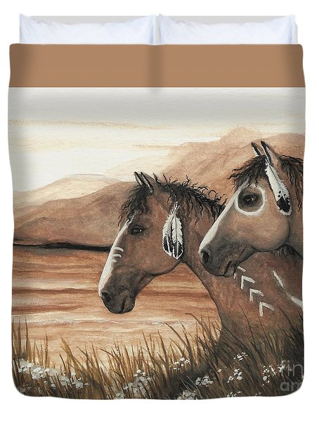 Majestic Mustang Series 42 Duvet Cover by AmyLyn Bihrle