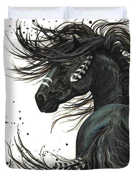Majestic Spirit Horse 65 Duvet Cover by AmyLyn Bihrle