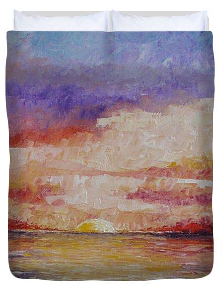 Majestic Sunset  Duvet Cover by Tatjana Popovska