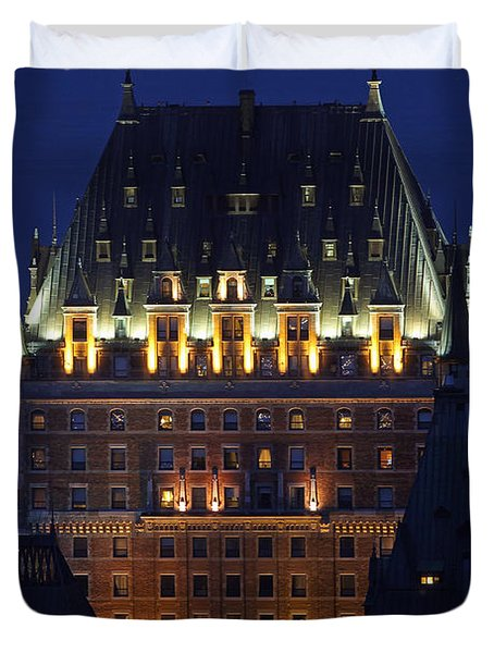 Majesty Of Chateau Frontenac In Quebec City Duvet Cover by Juergen Roth