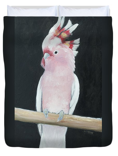 Major Mitchell Cockatoo Duvet Cover by Jan Matson
