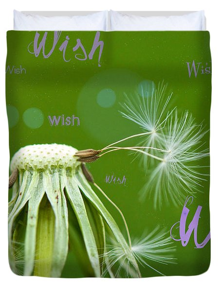 Make A Wish Card Duvet Cover by Lisa Knechtel