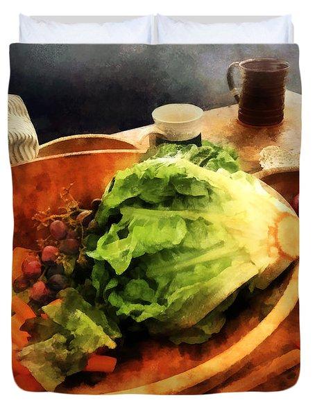 Making Waldorf Salad Duvet Cover by Susan Savad