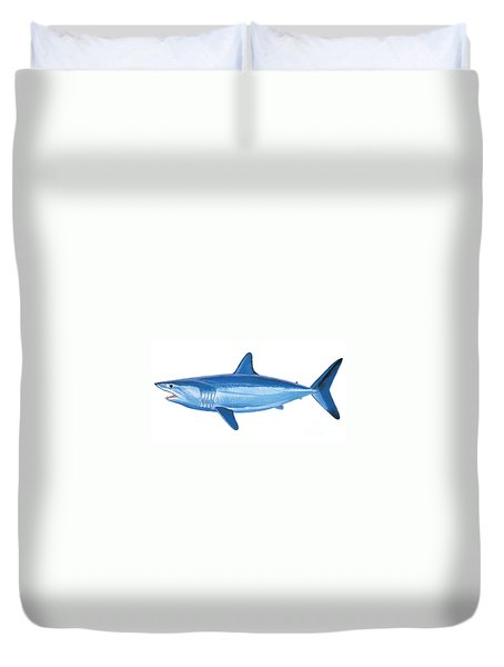 Mako Shark Duvet Cover by Carey Chen