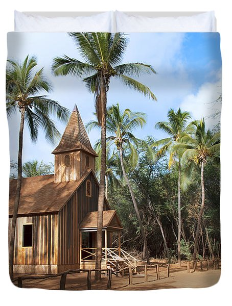 Malamalama Church Duvet Cover by Jenna Szerlag