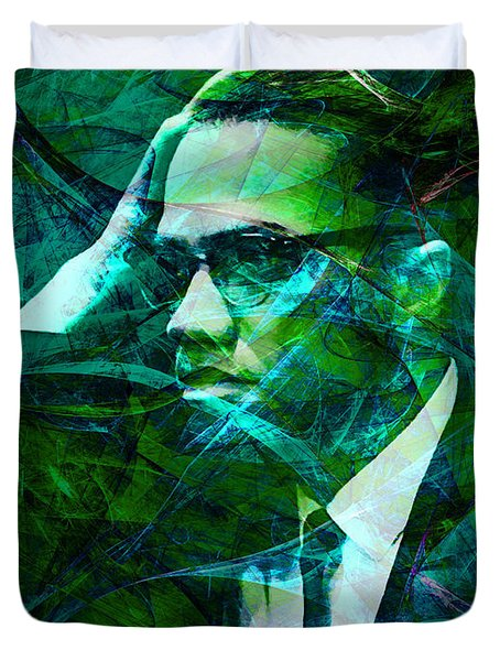 Malcolm X 20140105p138 Duvet Cover by Wingsdomain Art and Photography