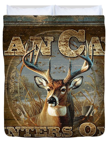 Man Cave Deer Duvet Cover by JQ Licensing