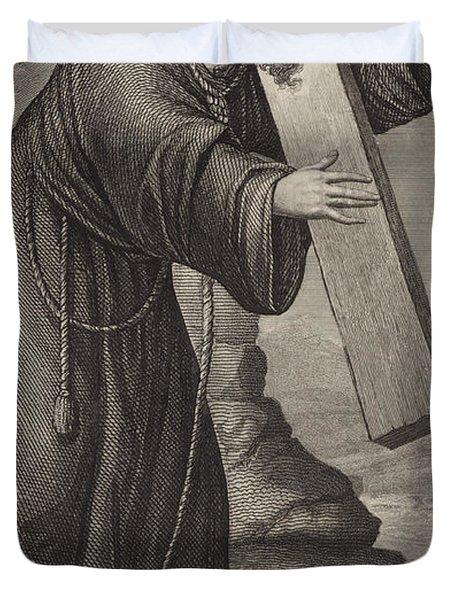 Man Of Sorrow Duvet Cover by English School