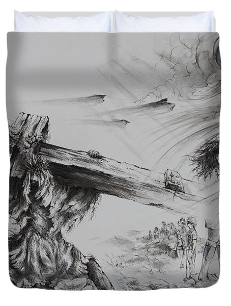 Man of Sorrows Duvet Cover by Rachel Christine Nowicki