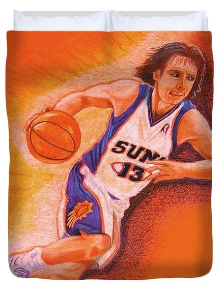 Man On Fire Duvet Cover by Marilyn Smith