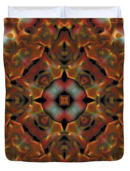 Mandala 119 Duvet Cover by Terry Reynoldson