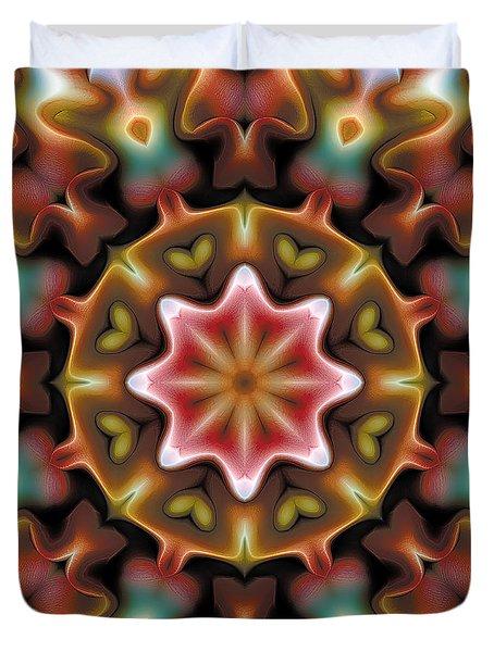 Mandala 92 Duvet Cover by Terry Reynoldson