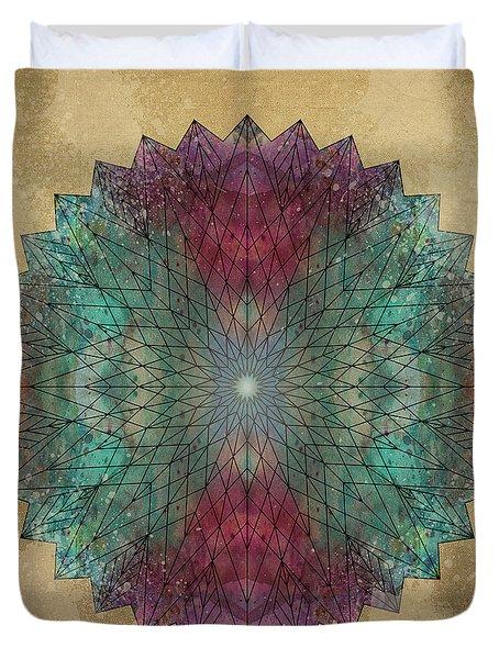 Mandala Crystal Duvet Cover by Filippo B