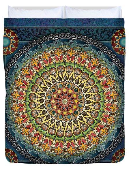 Mandala Fantasia Duvet Cover by Bedros Awak