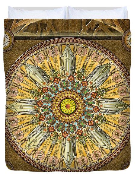 Mandala Illumination V1 Duvet Cover by Bedros Awak