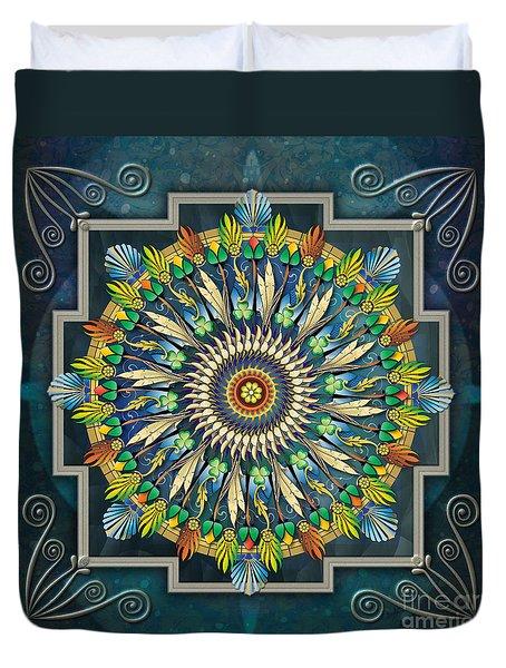 Mandala Night Wish Duvet Cover by Bedros Awak