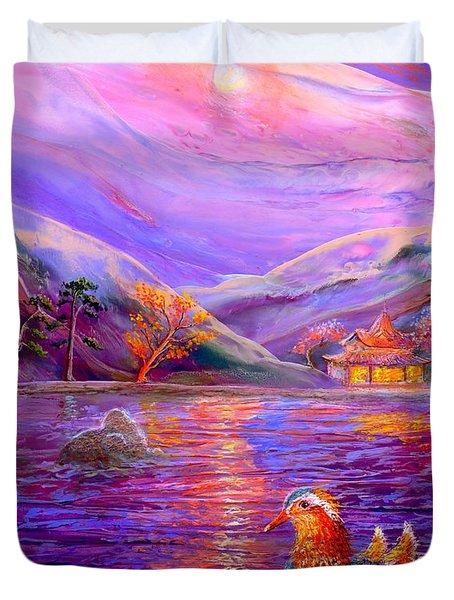 Mandarin Dream Duvet Cover by Jane Small