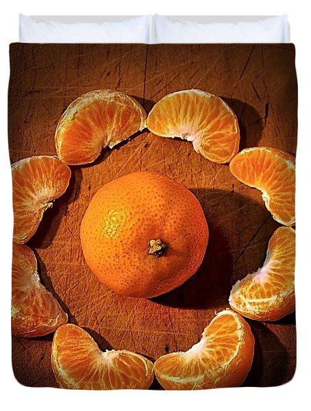 Mandarin - Vignette Duvet Cover by Kaye Menner