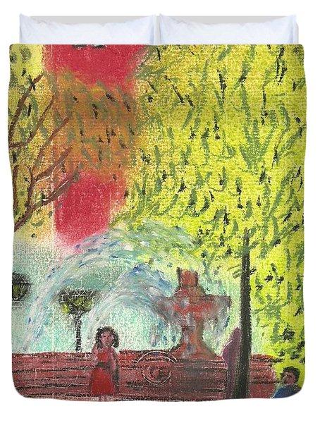 Manhattan Park 1 Duvet Cover by John Williams