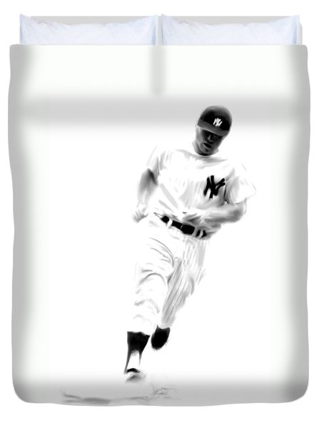Mantles Gate  Mickey Mantle Duvet Cover by Iconic Images Art Gallery David Pucciarelli