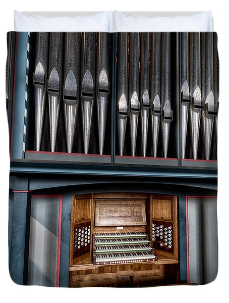 Manual Pipe Organ Duvet Cover by Adrian Evans
