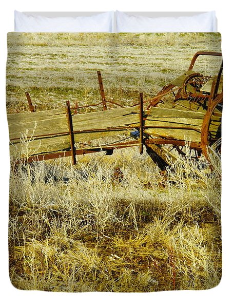 Manure Spreader Duvet Cover by Jeff Swan