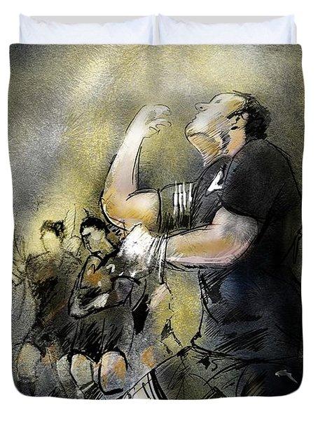 Maori Haka Duvet Cover by Miki De Goodaboom