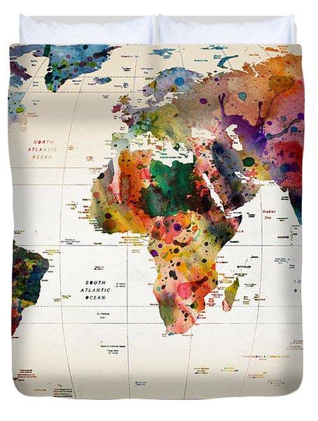 MAP Duvet Cover by Mark Ashkenazi