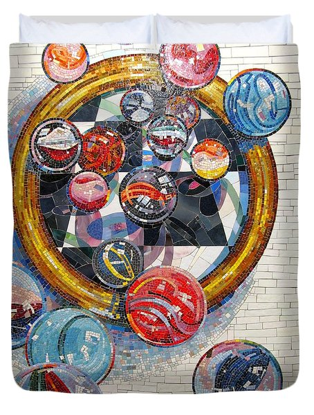 MARBLES Game  Duvet Cover by Dan Haraga