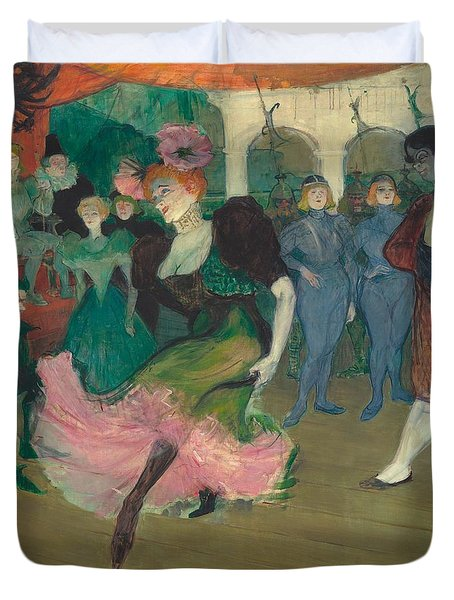 Marcelle Lender Dancing The Bolero In Chilperic Duvet Cover by Toulouse-Lautrec