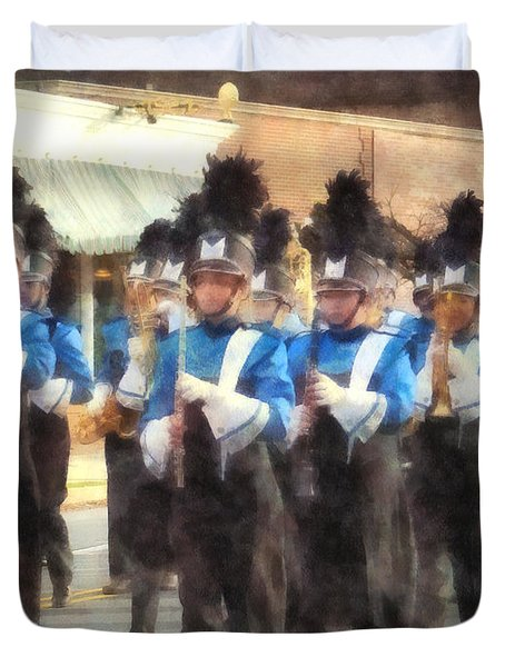 Marching Band Duvet Cover by Susan Savad
