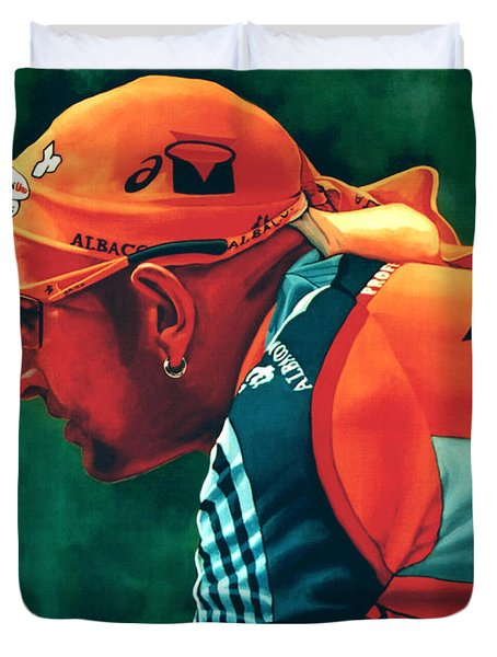 Marco Pantani 2 Duvet Cover by Paul  Meijering