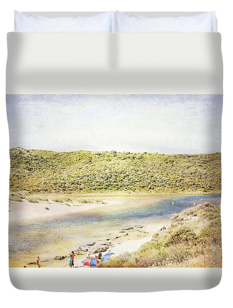 Margaret Rivermouth In Western Australia Duvet Cover by Elaine Teague