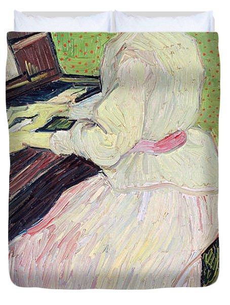Marguerite Gachet At The Piano Duvet Cover by Vincent Van Gogh