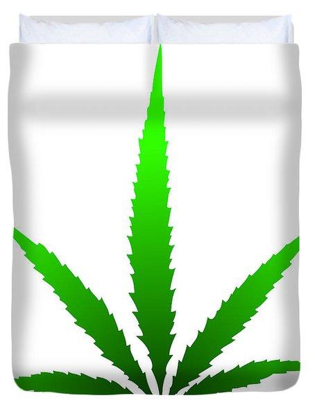 Marijuana Leaf Duvet Cover by Michal Boubin