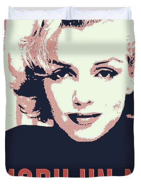 Marilyn M Duvet Cover by Chungkong Art