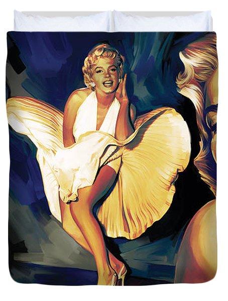 Marilyn Monroe Artwork 3 Duvet Cover by Sheraz A