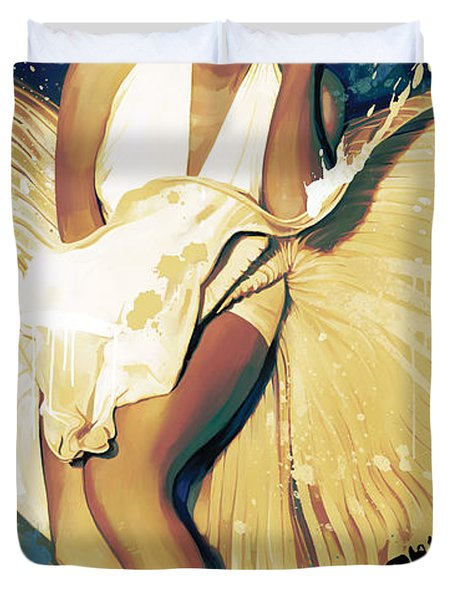 Marilyn Monroe Artwork 4 Duvet Cover by Sheraz A