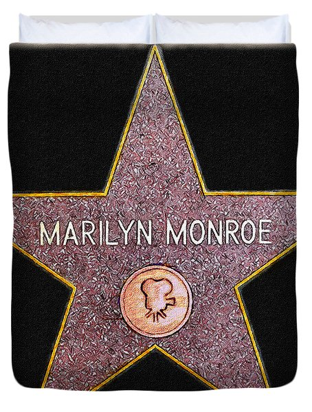Marilyn Monroe's Star Painting  Duvet Cover by Bob and Nadine Johnston