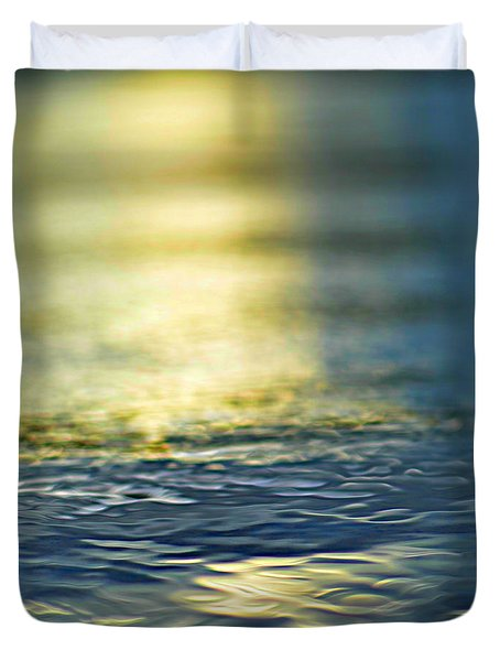 marine blues Duvet Cover by Laura  Fasulo
